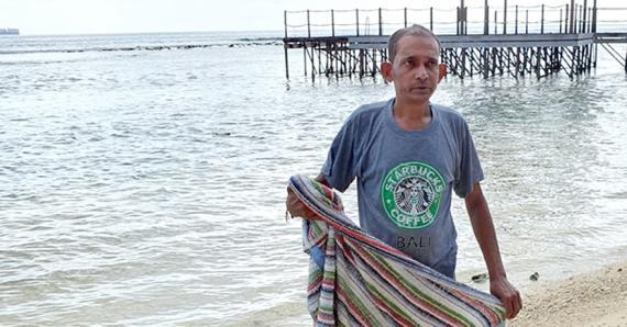 La victime,  lors d'une autre sortie à la plage, le dimanche 14 juin.
