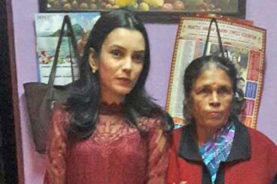 La victime et sa petite-fille, lors du 26e anniversaire de cette dernière.