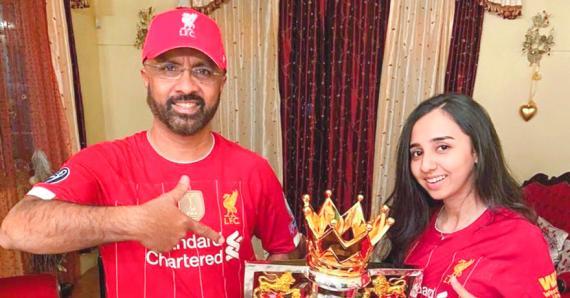 Iqbal Aubdool et sa fille Inshirah attribuent le sacre des Reds au travail abattu par Jürgen Klopp.