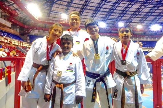 Les jeunes karatékas mauriciens ont fait bonne impression lors de ce tournoi international.