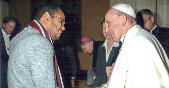 «Cela fait plus d'un an que j'ai rencontré le pape mais je ne trouve toujours pas de mots pour expliquer ce que j'ai ressenti», confie Jonathan Malot.