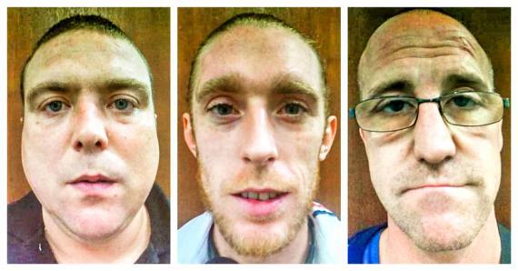 Asa Garbutt, Ashley Tierney et Aaron Matthew James ont été interceptés à leur descente d'avion le lundi 18 novembre.