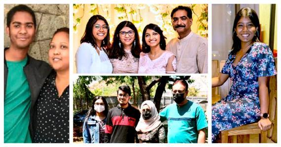 Rushaanaaz Sokeechand, Sanjana Hulkhoree, Grégory Marcelin et Asgar Fataymamode font la fierté de leur collège et de leur famille.