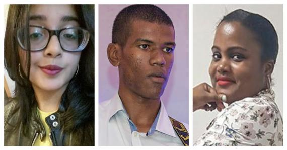 Trois jeunes qui ont relevé le défi de la scène.