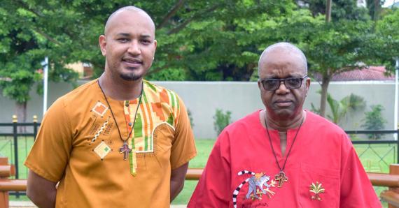 Jean-Patrick Polydor (à g.) et George Othello seront ordonnés prêtre et diacre permanent respectivement, ce dimanche 3 octobre.