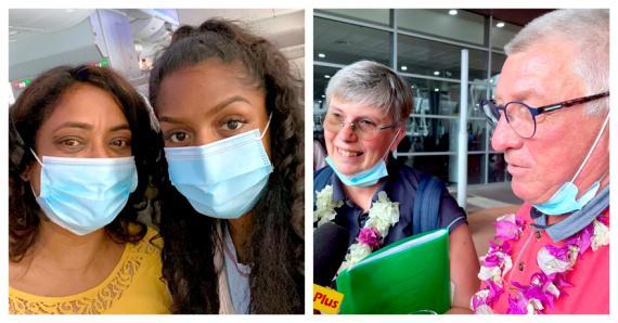 Touristes, expatriés et Mauriciens sont arrivés dans l'île selon les nouveaux paramètres de sécurité en vigueur...