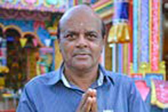 Même s'il ne portera pas le Cavadee, Devendra Sunnassee du Ganesh Kovil de Beau-Bassin observe le jeûne comme les autres.