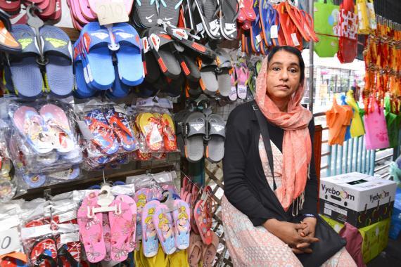 Amina Mandary travaille ici depuis plusieurs années.