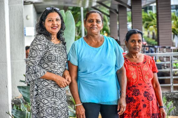 Renu Venkamah, Mala Bernard et Vidia Dookhy ont développé un vrai savoir-faire.