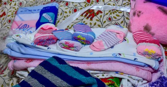 La famille Auckal avait déjà effectué tous les achats avant l'arrivée des bébés.