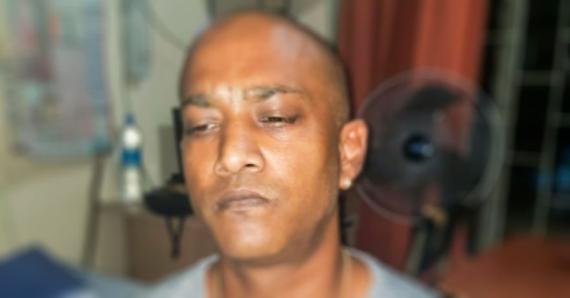 L'ancien garde-chiourme Oumeshlall Ramsarran après son arrestation.