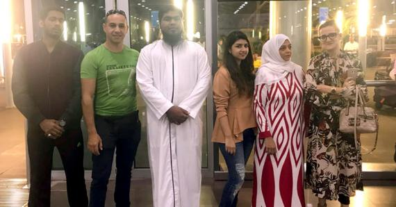 Le jeune religieux était à la tête d'une délégation comprenant six autres personnes.