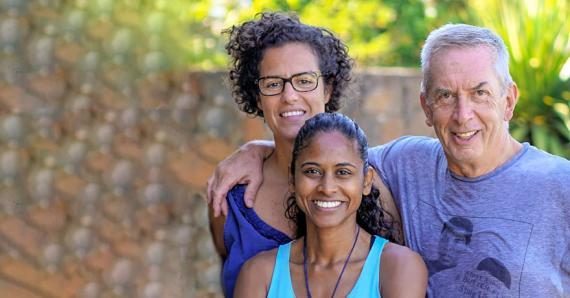 Terry Smith (en compagnie de son épouse) est très fier de patronner la mauricienne.
