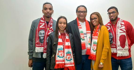 Chez les Toussaint, Liverpool c'est une affaire de famille.