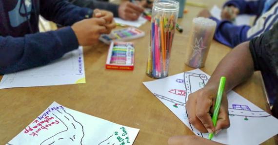 L'exposition avait pour objectif de mettre en avant le talent de ces jeunes.