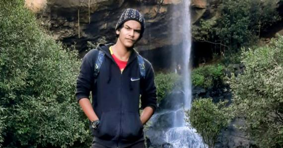 Une photo du jeune homme à Sept-Cascades. Il adorait cet endroit.