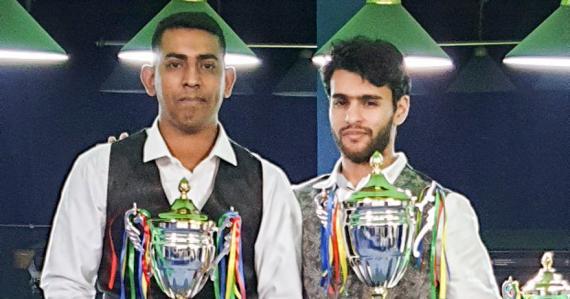 Salman Moosa ( à dr.) sera le joueur à surveiller lors du MBSF Snooker Challenge, tournoi qui a déjà débuté cette semaine