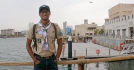 Le Mauricien sur le front de mer de Sharjah.