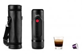 La première machine à café portable et à batterie conçue par notre compatriote sera lancée officiellement le 1er juin.