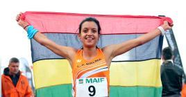 La Mauricienne a battu le record de feue Maryse Justin sur le 10km.
