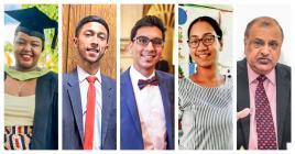 Stéfy Utile, Yaadav Damree, Nabeel Khodabux, Nadine Ramsamy et Vasant Bunwaree donnent leur avis sur l'obligation de cinq credits pour accéder en Lower VI.