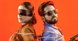 Ayushmann Khurrana, Tabu et Radhika Apte forment le trio mystérieux du film.