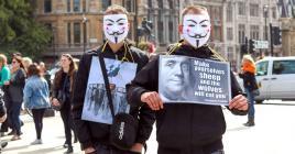 Des mouvements anti-masque ont manifesté dans plusieurs villes d'Europe.