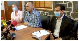 Hier, le Dr Jagutpal, Catherine Gaud et Zouberr Joomaye ont fait le point sur la situation concernant les récentes contaminations à la Covid-19.