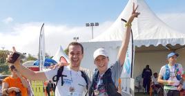 Les deux coureurs ont participé au Dodo Trail pour récolter des fonds afin de soutenir une famille.