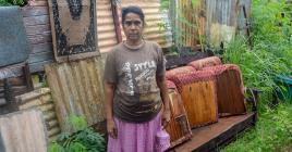 «Dès qu'il pleut, on vit un drame», confie Sarojini Elmir.