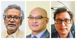Kris Valaydon, Kwang Poon et Parvèz Dookhy ont des avis divergents  sur la question du besoin ou non d'un recensement ethnique.