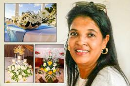 Travaillant dans le domaine de l'enseignement, elle est passionnée  par les fleurs.