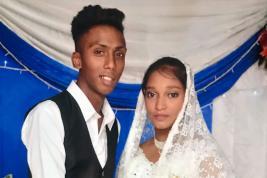 Arbaaz, 19 ans, et Ruwaidah, 13 ans, se sont mariés religieusement le 28 janvier 2018. (Les photos ont été publiées avec l'accord des familles)