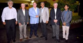 De g. à dr: Les administrateurs Anoop Madhow, Paul-France Tennant, Nicolas Carosin, Kamal Taposeea, Denis de Spéville et Rajesh Servansing ne partagent plus la même vision quant à l'avenir du Mauritius Turf Club.