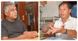 Vela Gounden d'AKNL et Georges Ah-Yan du FCL militent tous deux contre l'accaparement des plages.