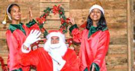 Le père Noël et ses lutins visiteront les maisons ce soir.