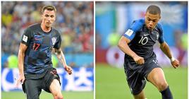 Les Français de Kylian Mbappé (à dr.), super-favoris de la finale, tenteront d'accrocher une deuxième étoile sur leur maillot. Mais les Croates sont durs aux mal…