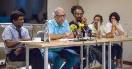 Jacques Maunick et les dirigeants actuels de l'Atelier Mo'Zar invitent le public à faire «un acte citoyen».