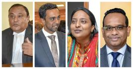 Sooroojdev Phokeer, Zahid Nazurally, Naveena Ramyad et Vikash Nuckcheddy ont prêté serment.