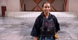 Ornella Grégoire trouve que le kendo contribue grandement au développement personnel.