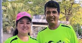 Pamela Wong et Salim Sookharry restent les maîtres incontestés du double mixte.
