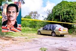 L'épouse de la victime se trouvait dans cette voiture lorsque celle-ci se faisait agresser.