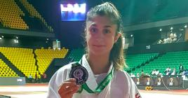 La vice-championne d'Afrique des -48kg Priscilla Morand.