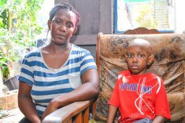 Jessica Edouard espère que son fils pourra bénéficier de suivi médical en Inde.