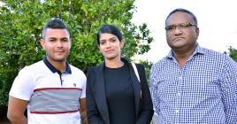 Yannick Catherine, Hurmila Routho et Govinden Vencatasamy sont peu loquaces.