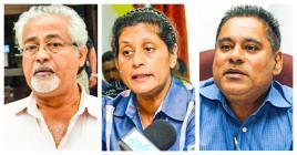 Atma Shanto, Jane Raggoo et Rashid Imrith ont participé aux comités tripartites.