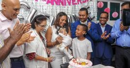 Une fête a eu lieu à l'hôpital de Flacq, en présence de la famille, du personnel et du ministre de la Santé.