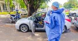 La voiture qui a véhiculé le couple le 3 janvier a été passée à la loupe par la police scientifique.