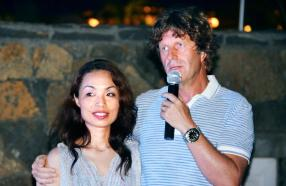 René Heuzey, ambassadeur de Green Attitude, et son épouse Yukimi.