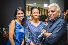 Tehseen Aboobakar, Chief Financial Officer, Trianon Shopping Park, Ariane Godet, Center Manager, Trianon Shopping Park, et Ismael Danil, Chairman, groupe SMTP.